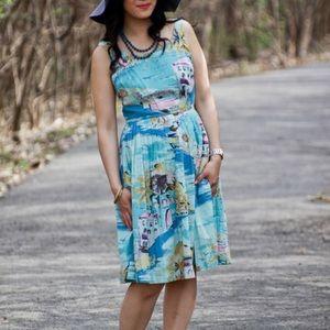 Boden Vintage blue Riviera dress